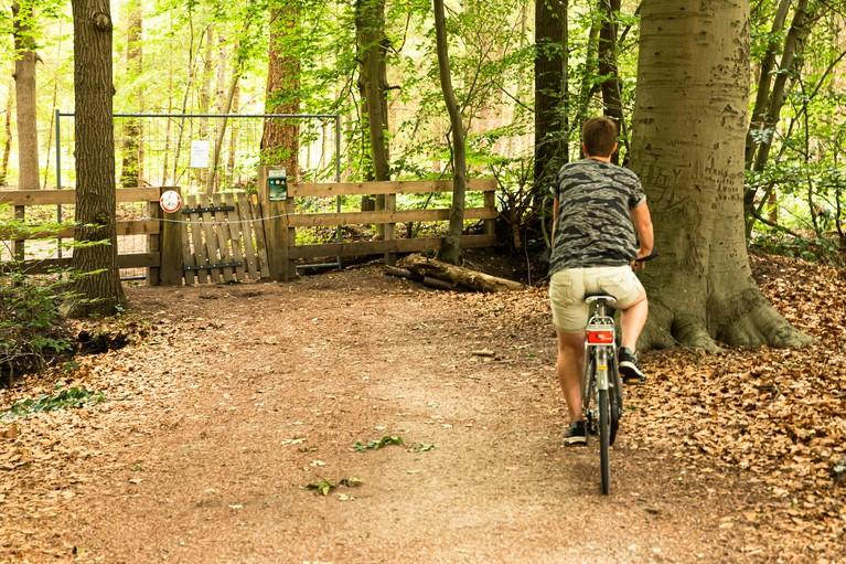 Vandalen slopen toegangshek Baarns Landgoed Pijnenburg
