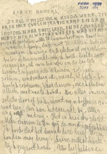 Nic Snaas uit Schagen werd nummer 13231, gevangene in kamp Amersfoort