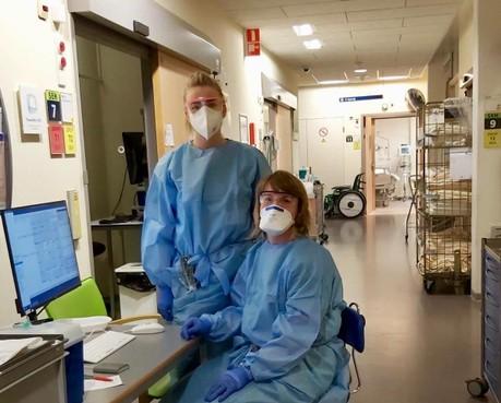 Een ziekenhuis in coronacrisis: in de spookachtig 'lege' gangen zijn plots de voetstappen hoorbaar