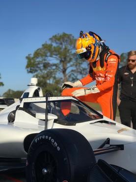 Rinus van Kalmthout de snelste tijdens eerste IndyCartest: 'Nog nooit zoveel geleerd op een testdag'