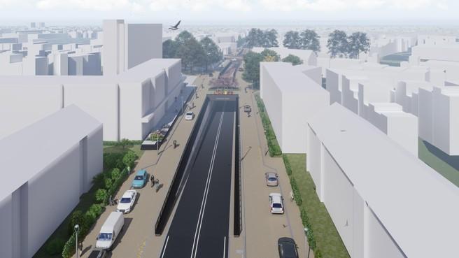 Oosterengweg in Hilversum gaat 30 maart anderhalf jaar op slot voor de aanleg van de tunnel