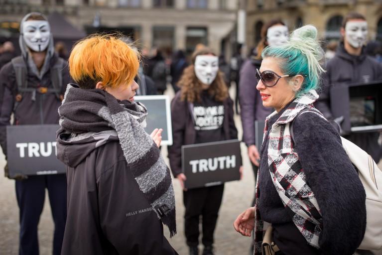 Vegan-demonstratie op Dam groeit per minuut weer aan, op naar climax rond middaguur