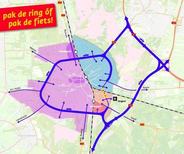 Hilversum is rimpelloos op slot gegaan, mede 'dankzij' de coronacrisis; Oosterengweg 1,5 jaar dicht voor grote tunnelklus