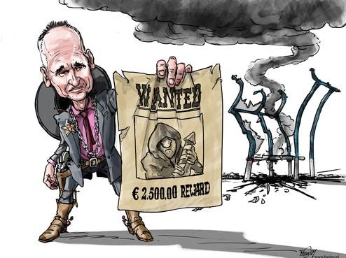 Burgemeester Niek Meijer van Huizen jaagt met 'bounty hunters' op vuurwerkvandalen en looft beloning van 2500 euro uit voor gouden tip