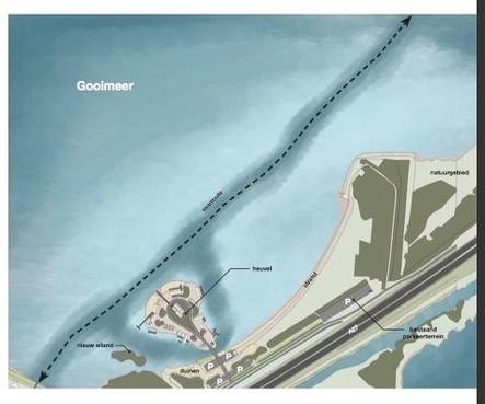 Eiland Blaricum aan Zee verplaatst voor natuurbehoud