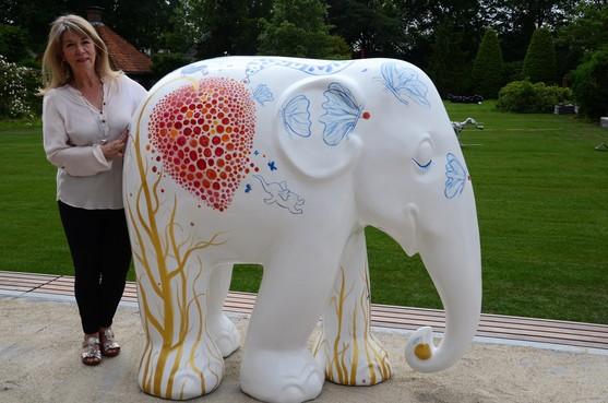 Paradijselijke olifant van Gitte Spee