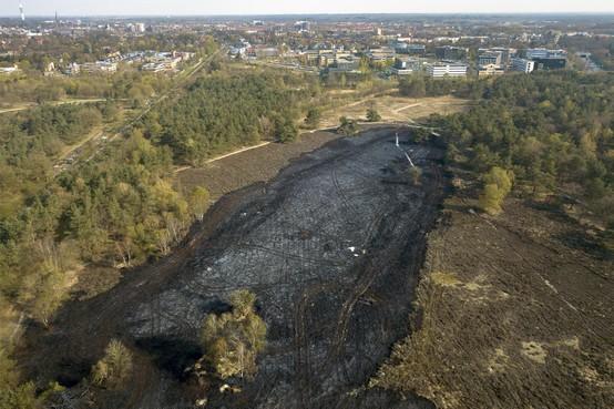 """Oorzaak Hilversumse heidebrand is nog altijd onduidelijk, meldt politie: ,,Eigenlijk weten we nog niets"""""""