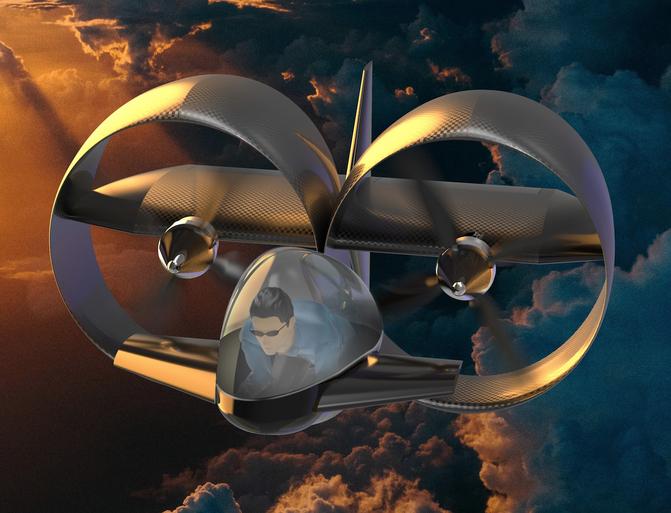 Vliegende motoren kiezen het luchtruim [video]